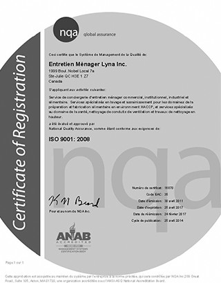 Iso 9001 2008 Sanitation